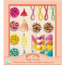 Gyöngyök és kockák - Gyöngyfűző készlet - Beads and cubes - Djeco