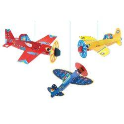 Repcsik - Függődísz 3D-s - Planes - Djeco