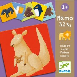 Színes állatok memória - Memória játék - Memo colour animals