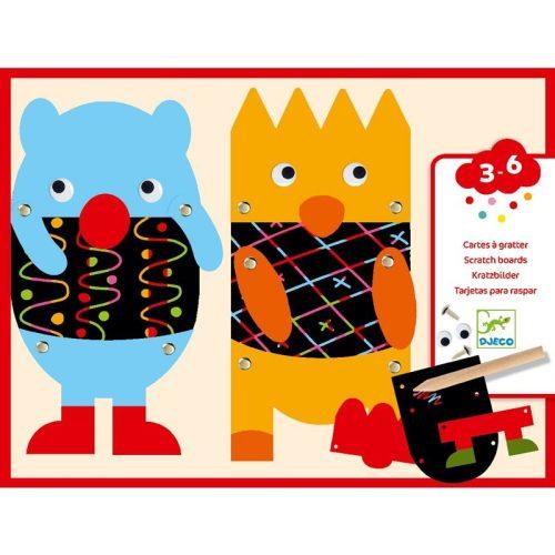 Kis szörnyecskék - Képalkotás karcolással, jancsiszöggel - Scratch the little monsters