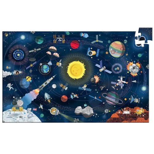 Az űrben - Megfigyelő puzzle angol nyelvű leírással - The space + booklet - Djeco