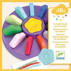 Virág kréta - Kréta - 12 flower crayons for toddlers - Djeco