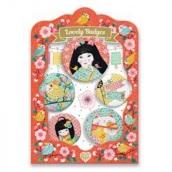 Japán kitűzők - Gyermek ékszer - Japan lovely badges - Djeco