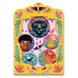 Őserdő kitűzők - Gyermek ékszer - Wild lovely badges - Djeco