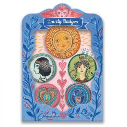 Hippi kitűzők - Gyermek ékszer - Lucky lovely badges - Djeco
