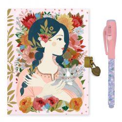 Oana titkos naplója varázs tollal - Napló - Oana secret notebook - Magic felt pen - Djeco
