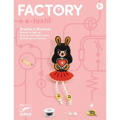 Nyuszi lány - Elektronikus kitűző - Brooch - Bunny girl - Djeco