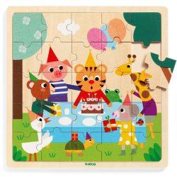 Tigris szülinapja - Fa puzzle 25 db - Puzzlo Happy - DJ01815