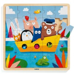 Hajózás Mackóval - Fa puzzle 25 db - Puzzlo Boat - DJ01816