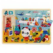 Repülőtér - Fa puzzle 35 db - Puzzlo Airport - DJ01818