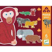Állatkerti puzzle - Puzzle 9-12-15 db - Henri & friends - DJ07147