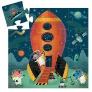 Irány a világűr - Formadobozos puzzle 16 db - Spaceship - DJ07271