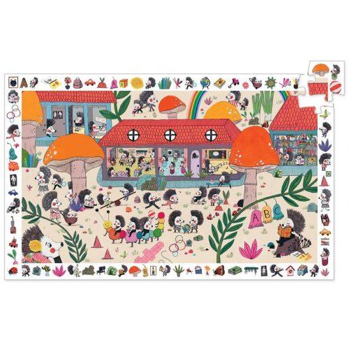 Süni suli - Megfigyelő puzzle 35 db - The hedgehog school - DJ07595