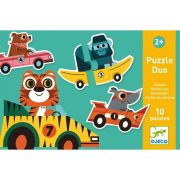 Versenyautók Puzzle - Kétrészes puzzle 20 db - Racing cars - DJ08148