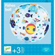 Halacskás textilhuzat lufira - Utazó labda - Fishes ball - DJ00170