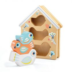 Pasztell madárkák - Formabeillesztő - BabyBirdi - DJ06123