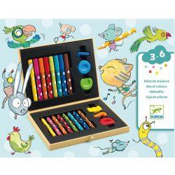Kicsik művészkészlete - Művész készlet - Box of colours for toddlers - DJ09010