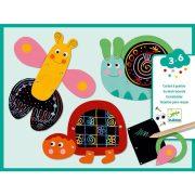 Vicces állatok - Képalkotás karc technikával - Scratch the funny animals - DJ09094