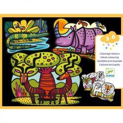 Gyönyörű szavanna - Bársony színező - Animals of the savannah - DJ09622
