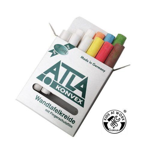 Táblakréta - 12 db-os, fehér és színes