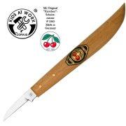 Fafaragó készlet, kés + A/6 méretű falap