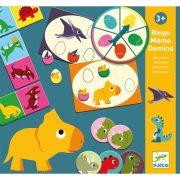 Dinoszaurusz - Bingó, memória, dominó játék 3 az 1-ben - Dinosaurs - Djeco - DJ08132
