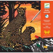 Dzsungel állatok - Akvarell készlet  -Backlight - Djeco - DJ09348