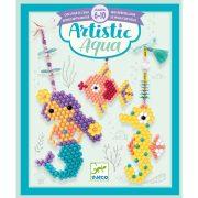 Vízes vizi állatok - Képalkotás gyöngyökkel,  vízzel - Artistic aqua - Sea charm - Djeco - DJ09483