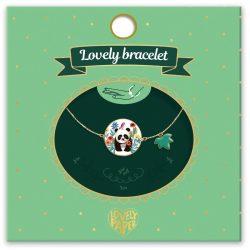 Pandás és a levél karkötő - Gyermek ékszer - Panda - Lovely bracelet - Djeco - DD03830
