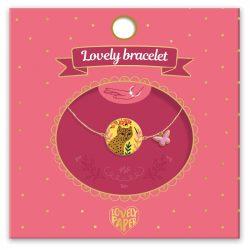 Leopárdos és lepke karkötő - Gyermek ékszer - Féline - Lovely bracelet - Djeco - DD03831