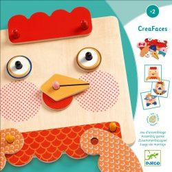 Vicces állatfejek - fa formakereső - Creafaces - Djeco - DJ01676