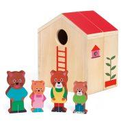 Maci család mini házban - szerepjáték - Minihouse - Djeco - DJ06385