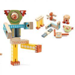 Robotos építő - fa építőjáték - Ze Elasorobot - Djeco - DJ06435