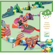 Csúszó mászó állatok - fűzőjáték - My animals - Djeco - DJ08978