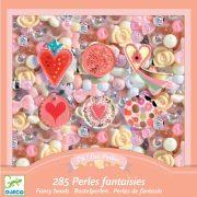 Virágok és szívecskék - ékszerkészítő - Hearts - Djeco - DJ09855