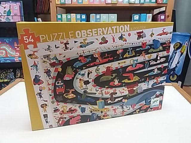 Autós kirakó játék, megfigyelő puzzle a Djeco-tól!